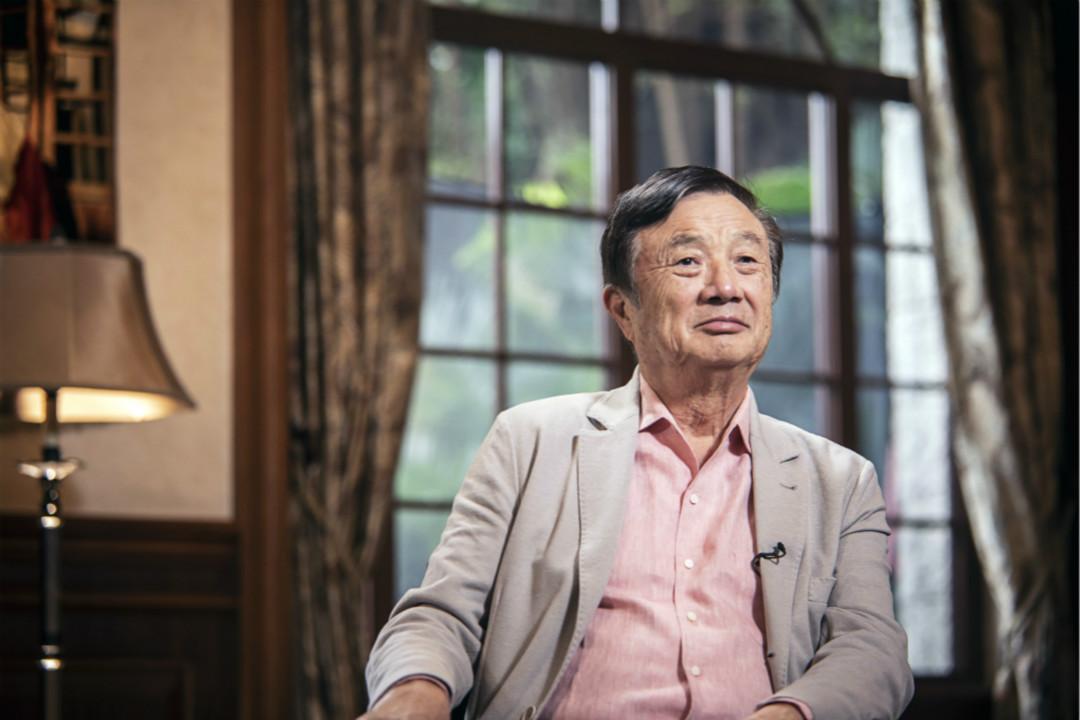 2019年5月24日,華為集團董事長任正非在深圳總部接受彭博電視台專訪。 攝:Qilai Shen/Getty Images
