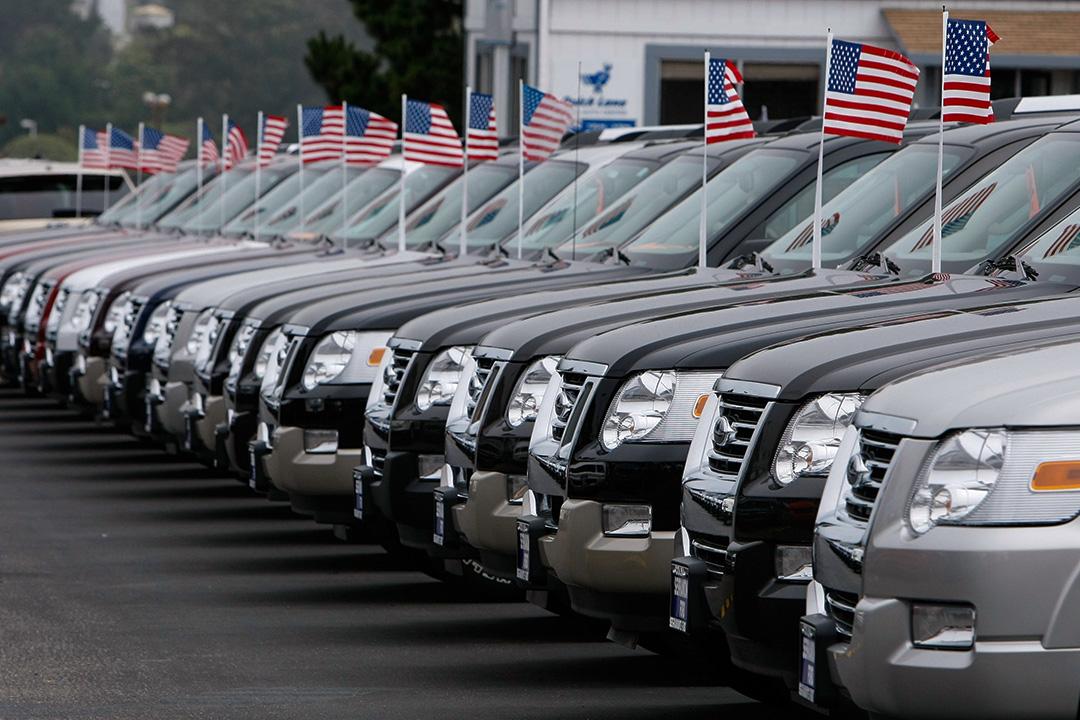 美國車行內的福特汽車。 攝:Justin Sullivan/Getty Images