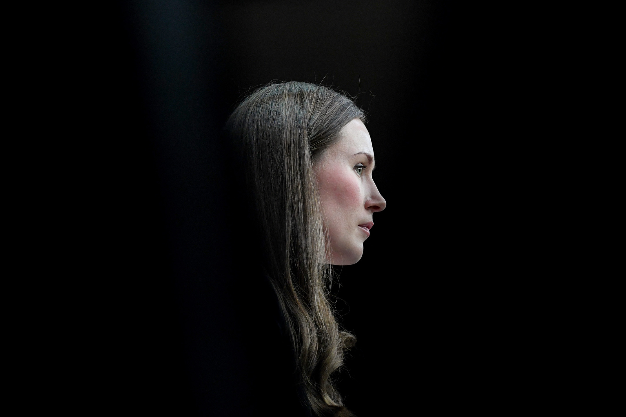 2019年12月13日,芬蘭總理馬林(Sanna Marin)於布魯塞爾歐羅巴大廈舉行的歐盟峰會期間舉行新聞發布會。 攝:Alain Jocard/AFP via Getty Images