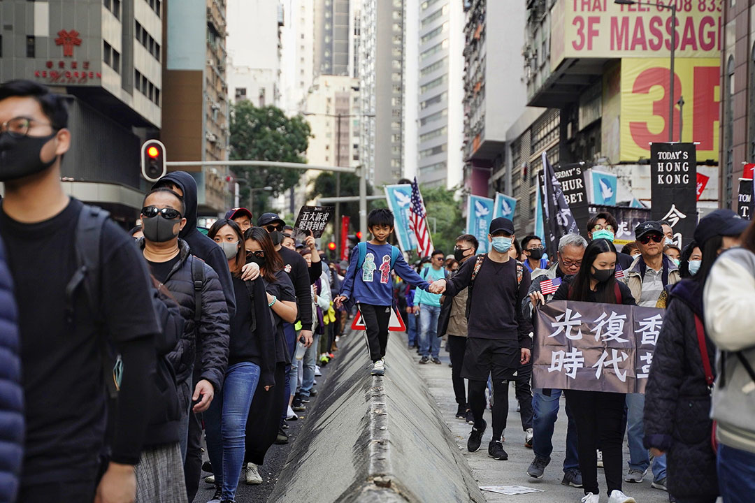 2019年12月8日,民陣發起國際人權日遊行,參與遊行的人。