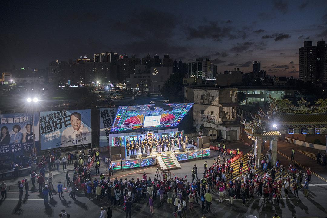 2019年11月2日,韓國瑜在桃園區的造勢晚會。