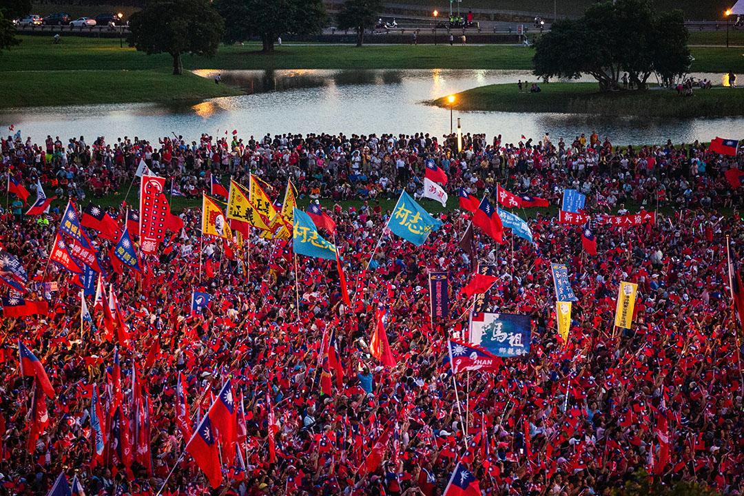 2019年9月8日,韓國瑜在新北市舉行造勢晚會。