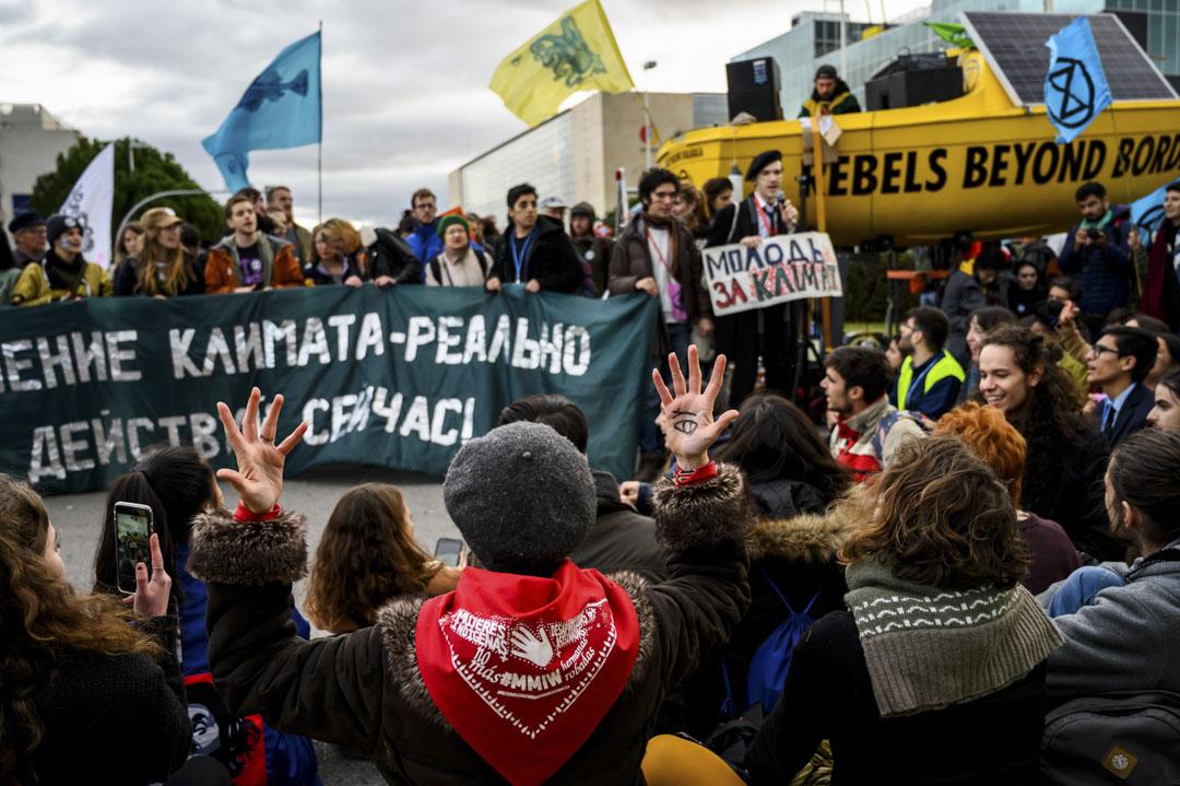 2019年12月13日,在馬德里舉行的COP25的抗議。