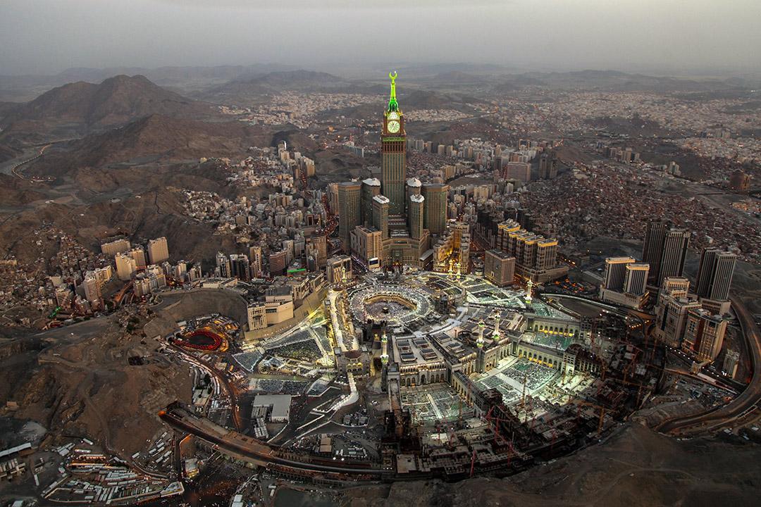 2018年6月3日在沙特阿拉伯聖城麥加的大清真寺。