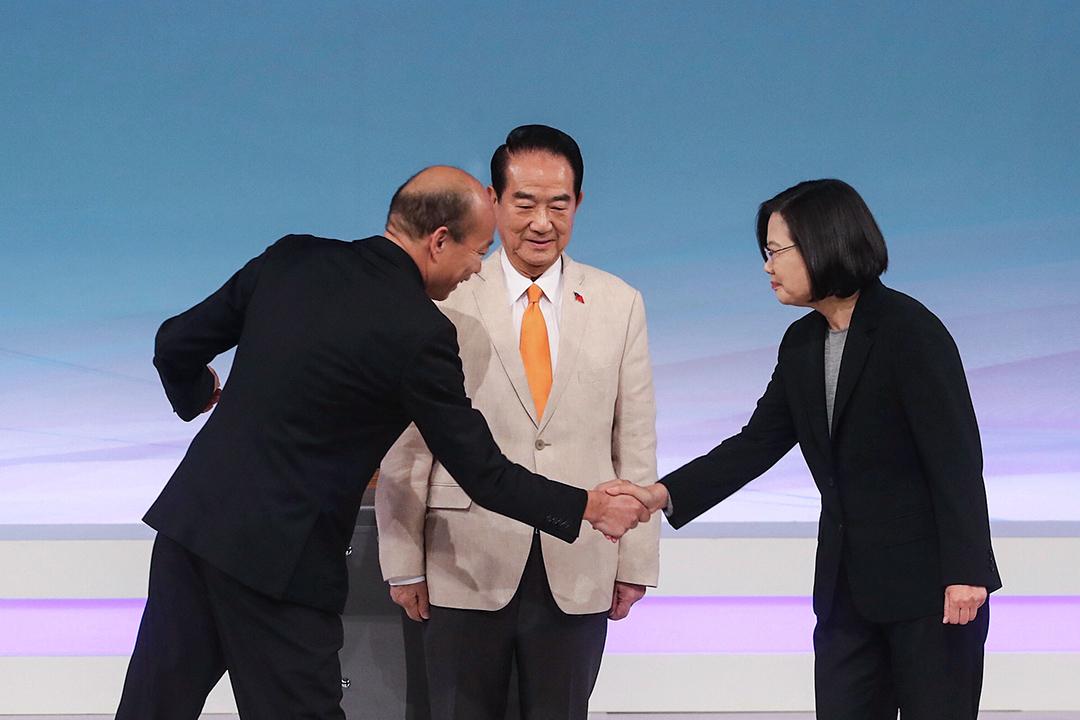 2019年12月29日,2020總統選舉電視辯論。 圖:台北市攝影記者聯誼會提供