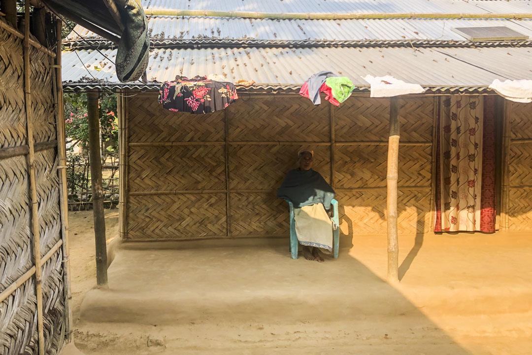 孟加拉難民Saniara Hajong的婆婆。