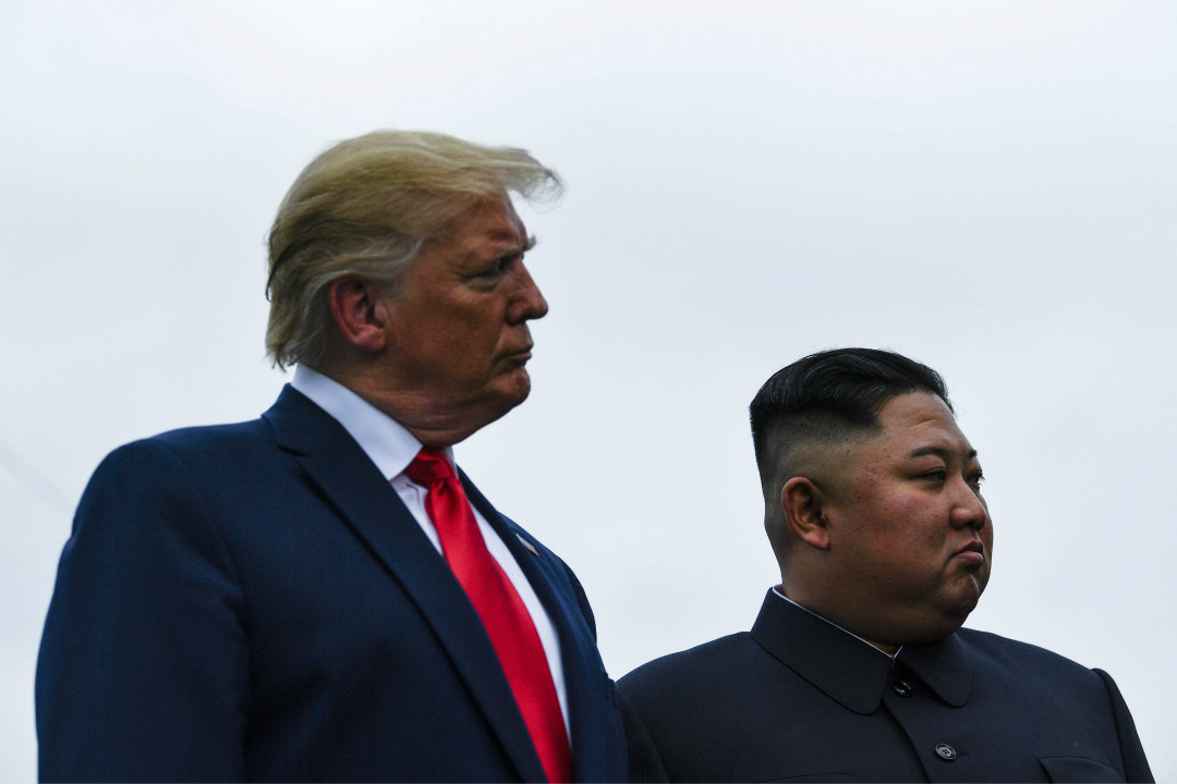 2019年6月30日,金正恩與特朗普在板門店會面。 攝:Brendan Smialowski/Getty Images