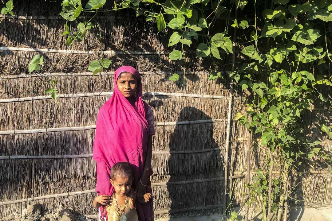 被採訪村民Rukiya Khadun。