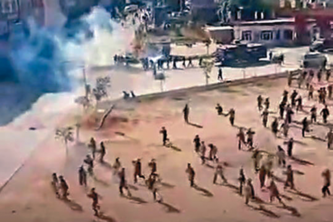 廣東茂名化州市民眾連日反對興建火葬場。 圖:網上圖片