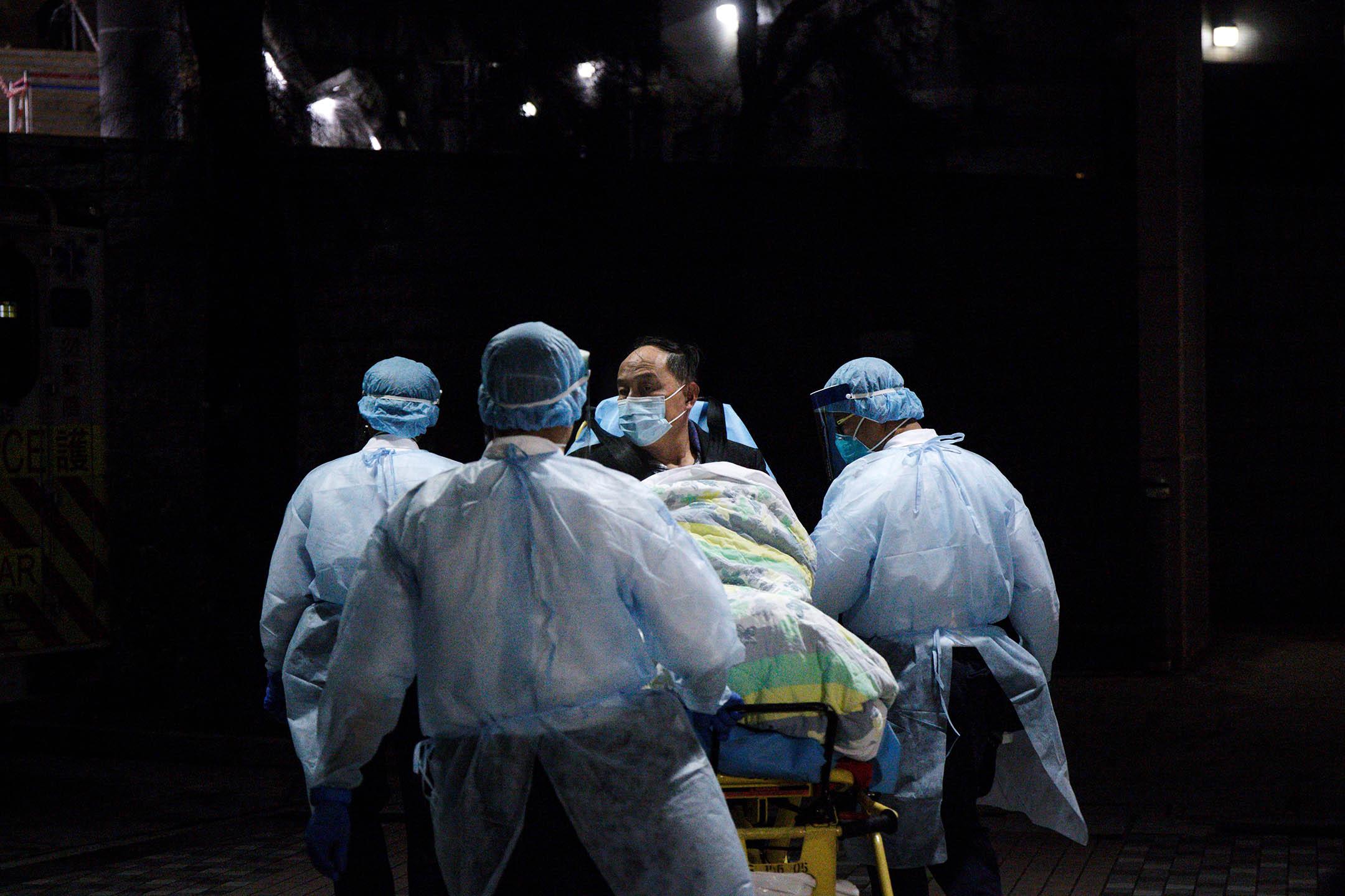 2020年1月22日,香港威爾斯醫院一名病人對新冠狀病毒初步呈陽性反應。 攝:陳焯煇/端傳媒