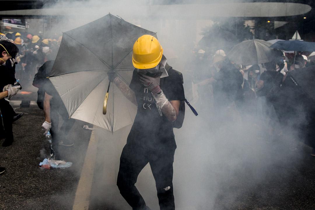 2019年6月12日,警方進行金鐘夏慤道的清場行動。