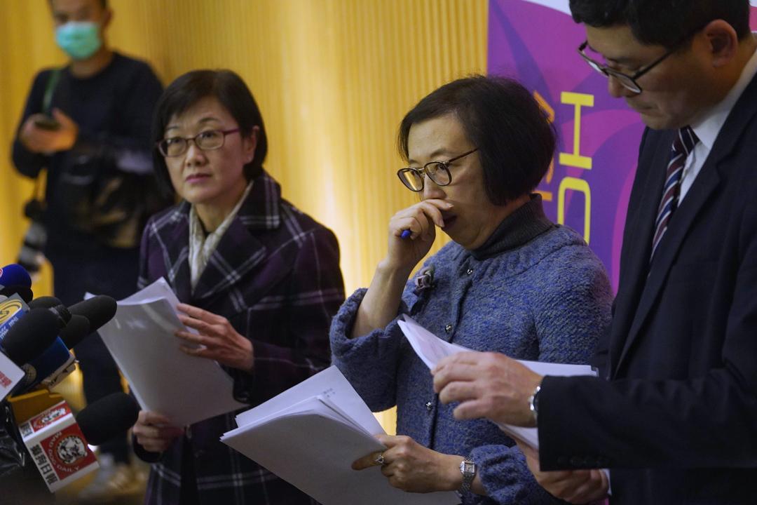 2020年1月22日,香港出現首宗新型冠狀病毒確診個案後,食物及衞生局局長陳肇始召開記者會。