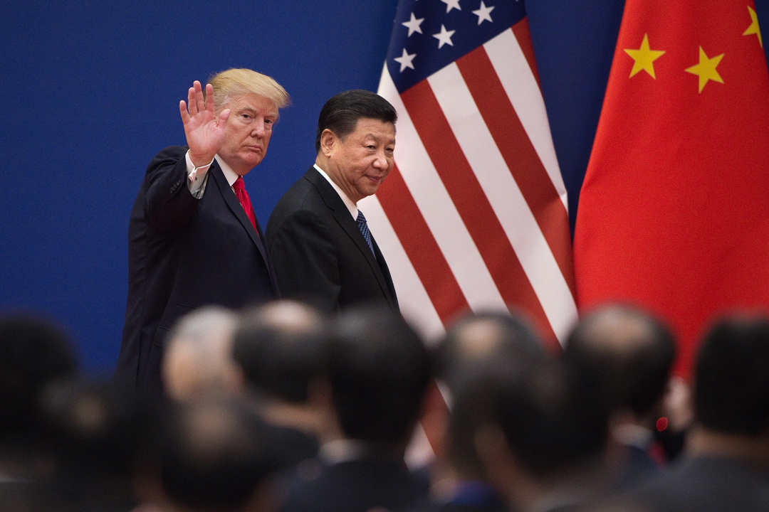 2017年11月9日,美國總統特朗普於北京與習近平會面。