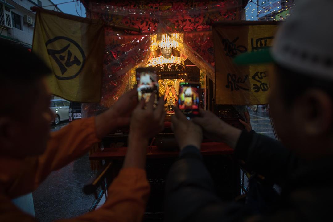 2019年12月30日,蔡英文到金包里慈護宮參拜。