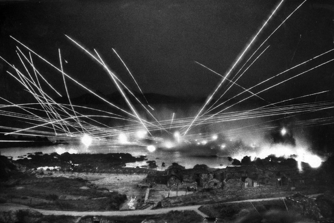 1957年5月1日,中國國民黨軍在馬祖進行軍事演習。