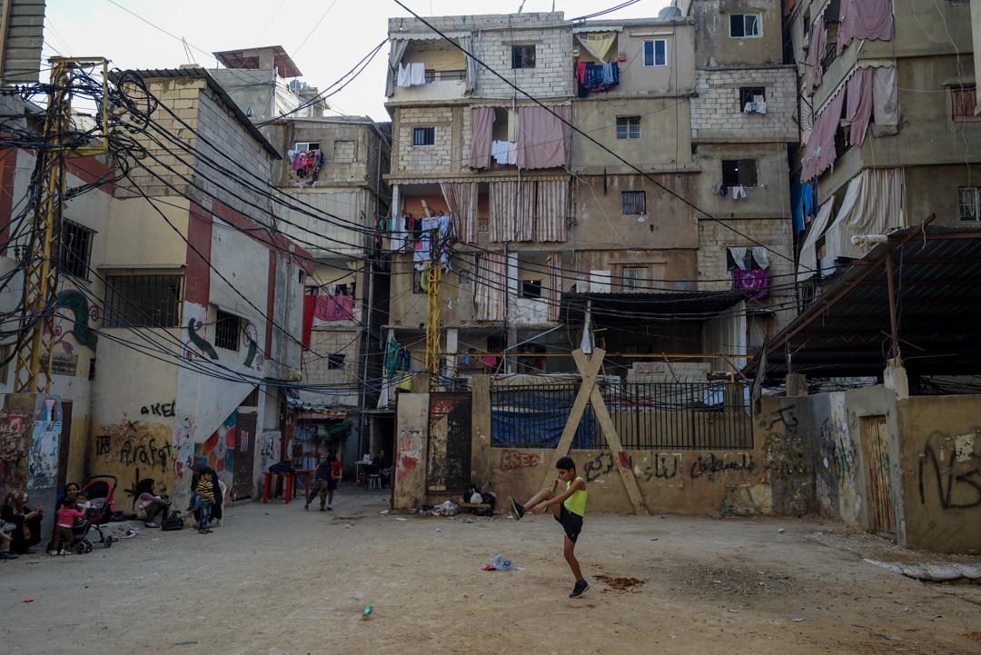 黎巴嫩一個眾多敘利亞人聚居的難民營。 攝:Giles Clarke/Getty Images