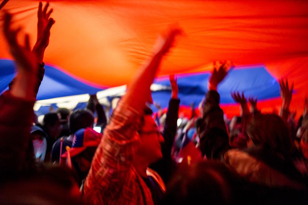 2020年1月9日,韓國瑜在凱道舉辦造勢晚會,韓辦宣布現場人數達一百萬。