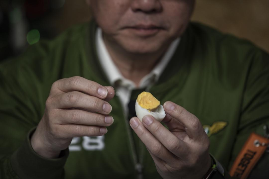2019年12月31日,民進黨主席卓榮泰參與「一起吃早餐」的錄影。