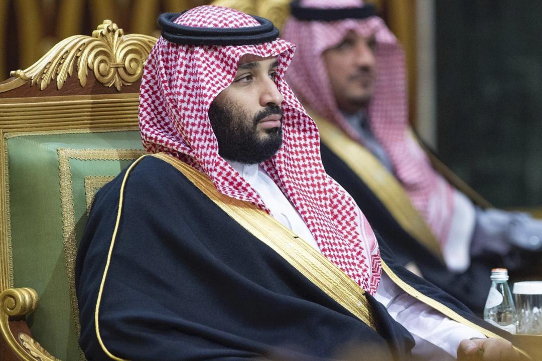 2019年12月10日,沙特阿拉伯王儲穆罕默德・薩勒曼(Mohammad bin Salman)於利雅德出席海灣阿拉伯國家合作委員會(GCC)第40屆年度峰會。 攝:Bandar Algaloud / Saudi Kingdom Council / Anadolu Agency via Getty Images
