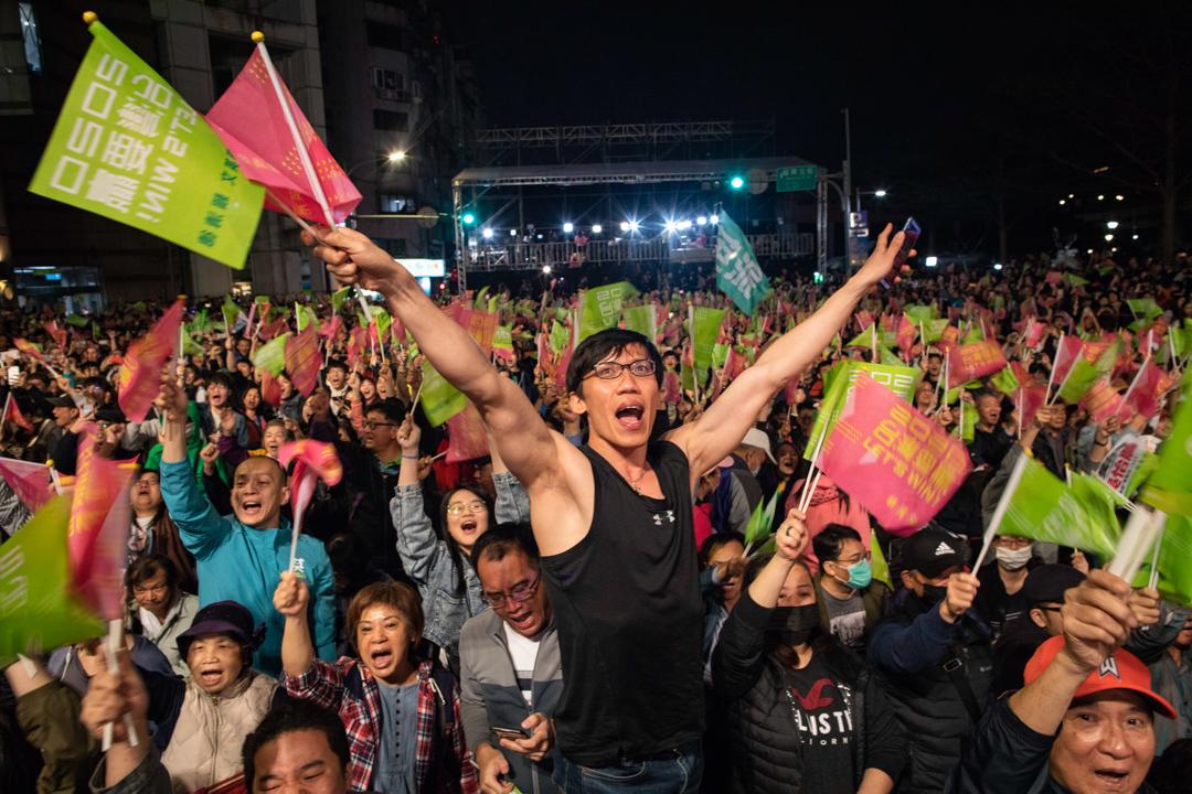 2020年1月11日,蔡英文獲超過800萬票,自行宣布當選。