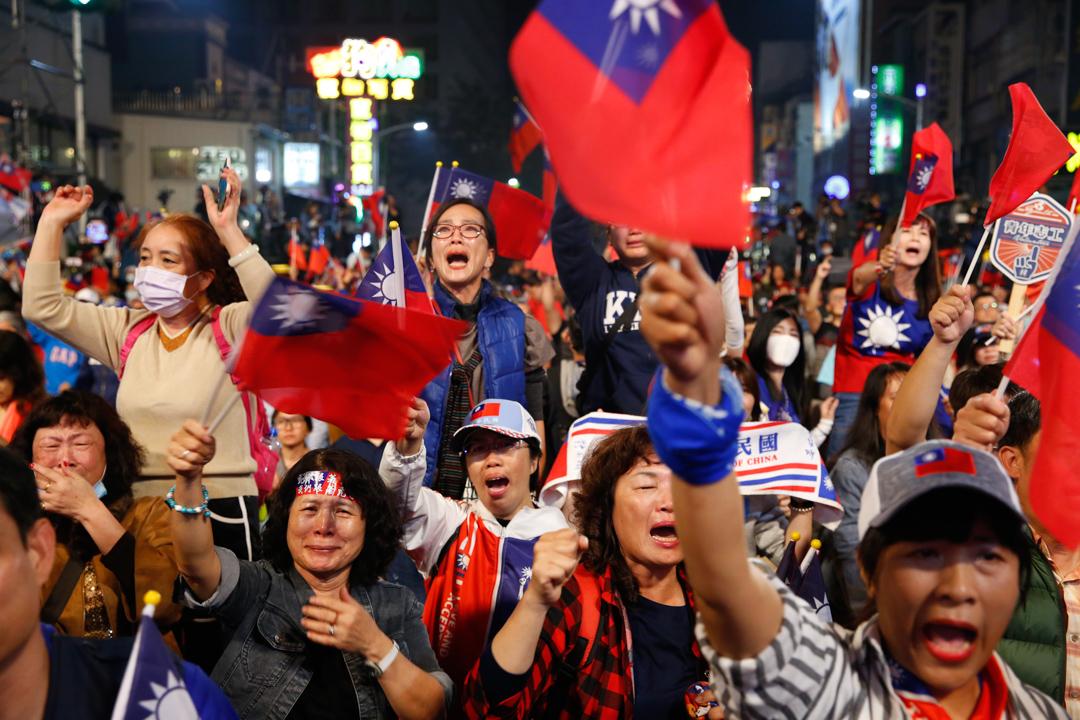 2020年1月11日,台灣大選結果出爐後,韓國瑜於高雄與支持者見面。