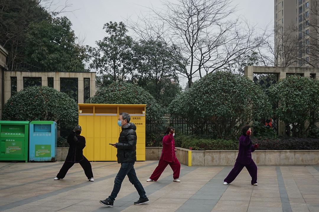 2020年1月23日,武漢的市面情況。