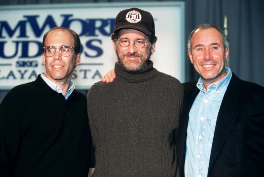 夢工廠DreamWorks SKG三巨頭包括Jeffrey Katzenberg、Steven Spielberg及 David Geffen。