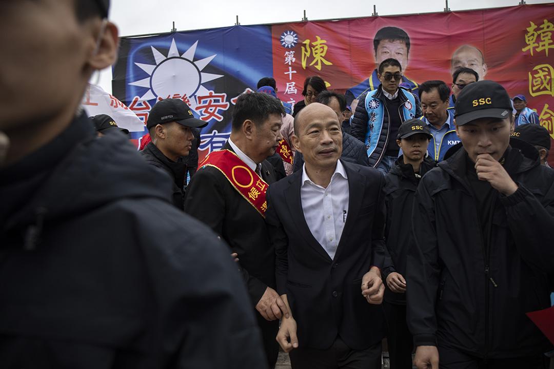 2019年11月30日,韓國瑜到馬祖為陳雪生站台。