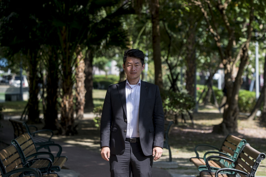 基進黨台中立委候選人陳柏惟。 攝:林彥延/端傳媒