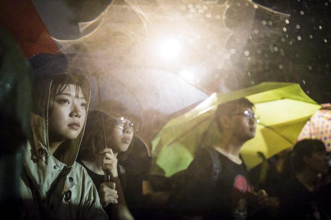 2019年9月29日,台灣多個公民團體共同發起的「929台港大遊行」,聲援香港反修例運動,遊行期間下起大雨。