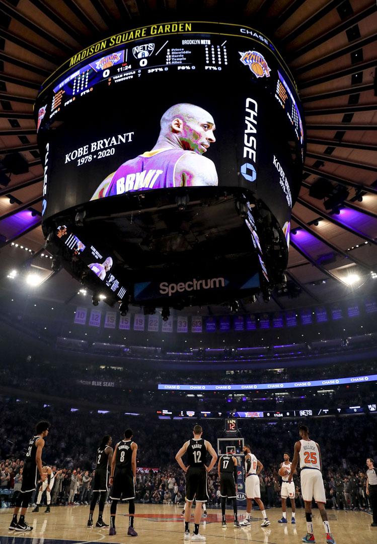 2020年1月26日,NBA球隊紐約人與布魯克林籃網的比賽開始前,全場默站24秒以紀念剛逝世的高比拜仁。