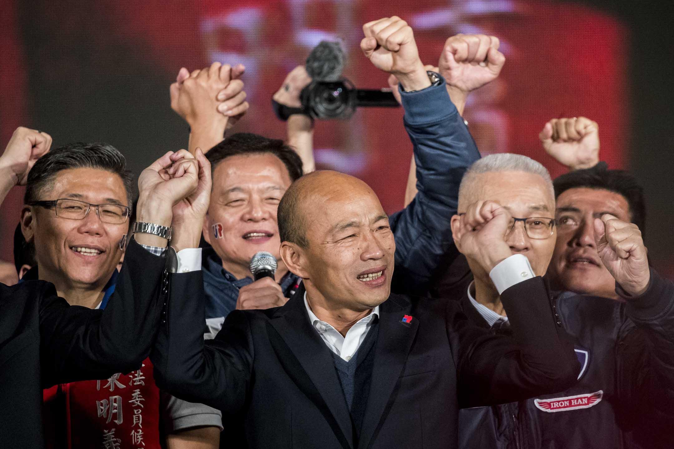 2020年1月9日,韓國瑜在凱道舉辦造勢晚會,韓辦宣布現場人數達一百萬。 攝:林振東/端傳媒