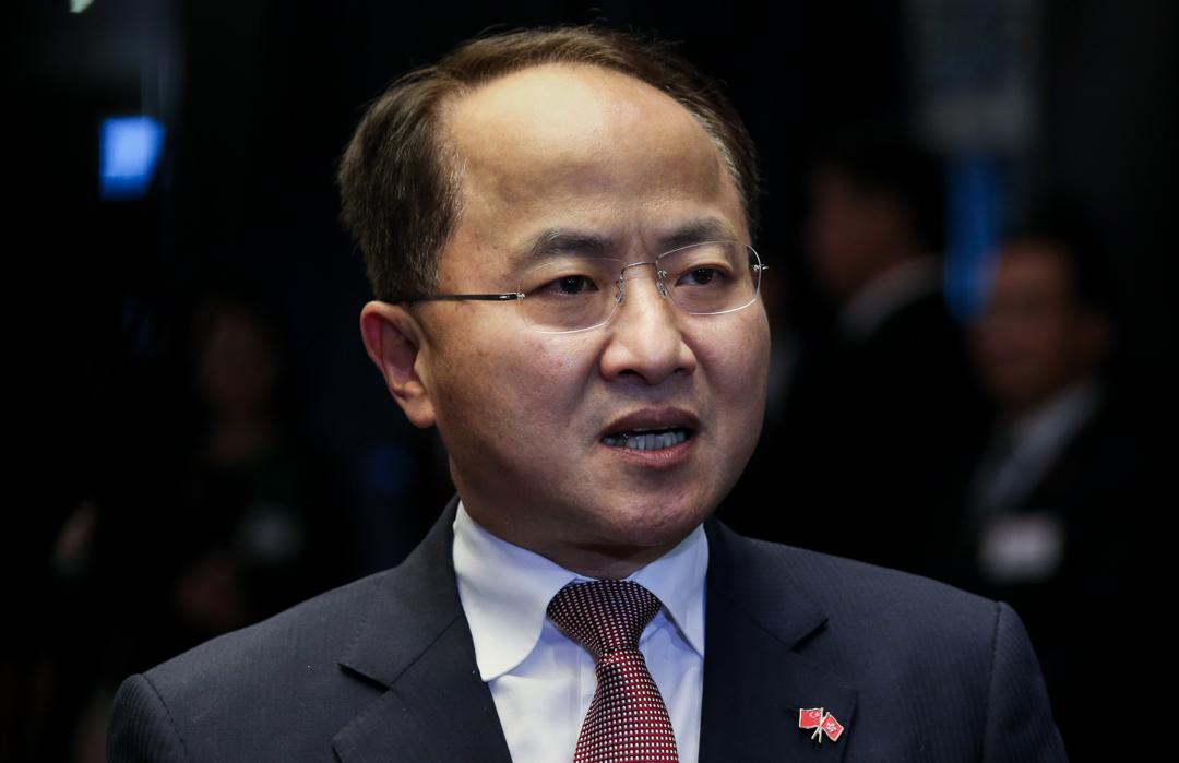 前任中央人民政府駐香港特別行政區聯絡辦公室(中聯辦)主任王志民。