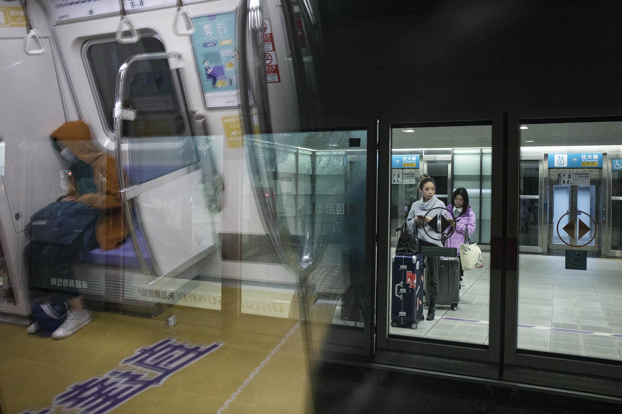 桃園機場捷運。 攝:陳焯煇/端傳媒