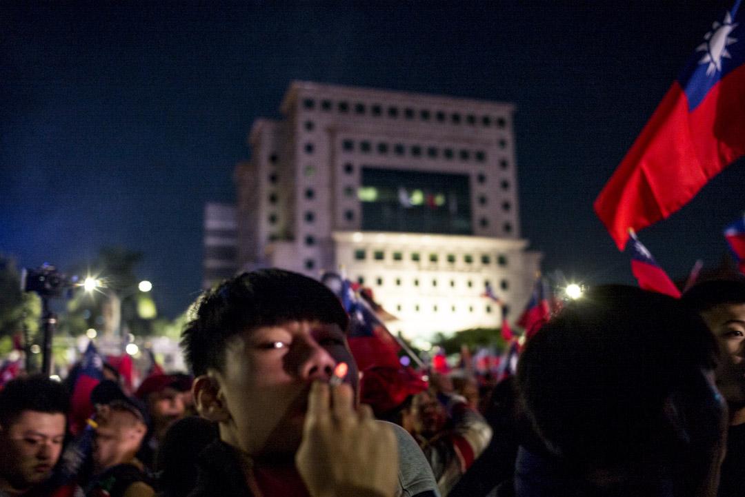 2020年1月9日,韓國瑜在台北舉行「台灣安全人民有錢」凱道勝利晚會,因現場人數太多太擠迫,不少參加者也去不到舞台前。