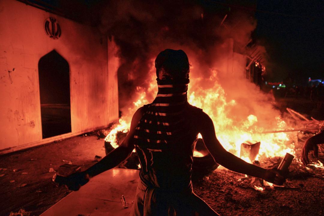 2019年11月27日,伊朗什葉盟國伊拉克曾爆發反政府示威。