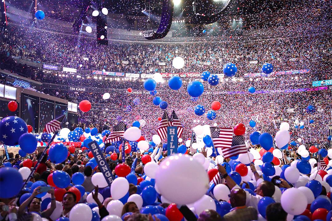 2016年7月28日美國費城,民主黨全國代表大會的第四天。
