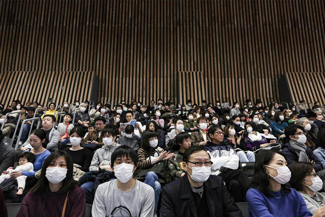 當地時間2020年2月2日,日本東京,有明體育館落成,並舉行開幕式,該場館將作為奧運排球和殘奧輪椅籃球的比賽場地。