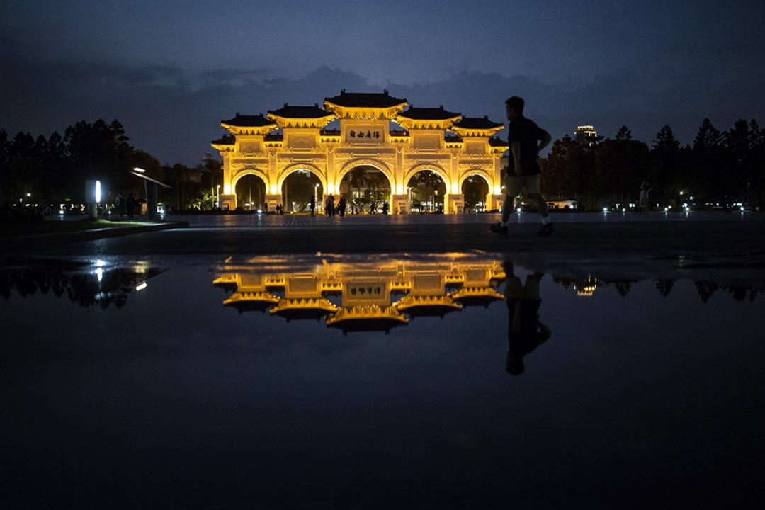 2020年2月16日台北自由廣場。