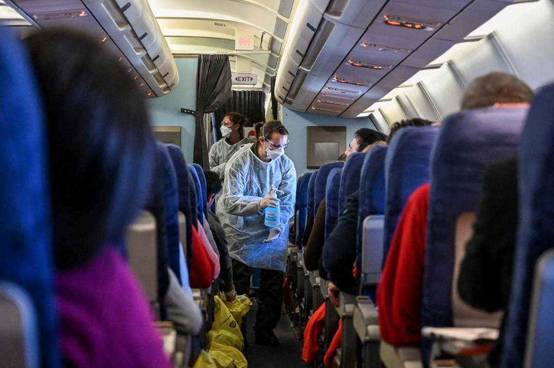 2020年1月31日,法國政府安排一輛客機,將身處武漢的法國公民載回法國。