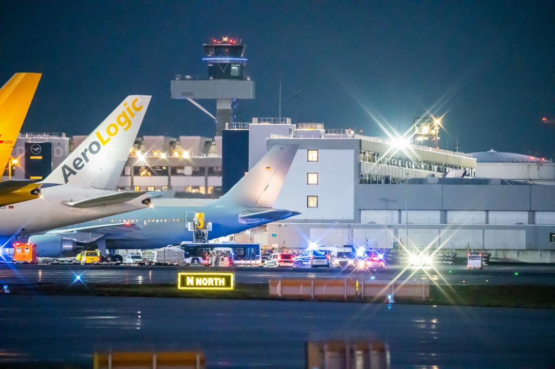 2020年2月1日,曾到訪武漢的德國人乘坐德國軍方的客機抵達法蘭克福機埸。