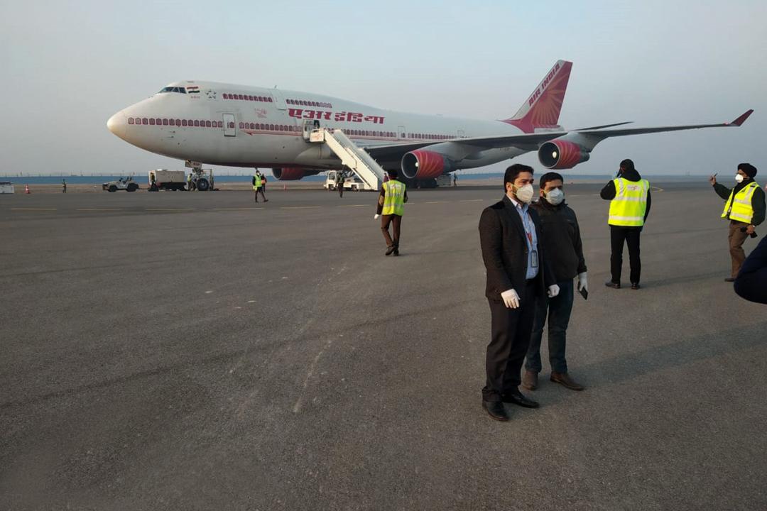 2020年2月1日,印度政府安排客機接載身處武漢的印度人回國。