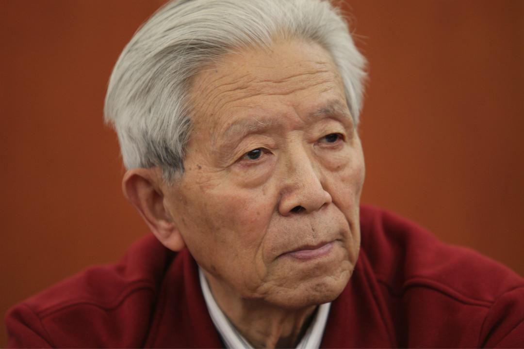 2013年2月28日,蔣彥永在北京參加 SARS 疫情十週年回顧論壇。 攝:Simon Song/Getty Images