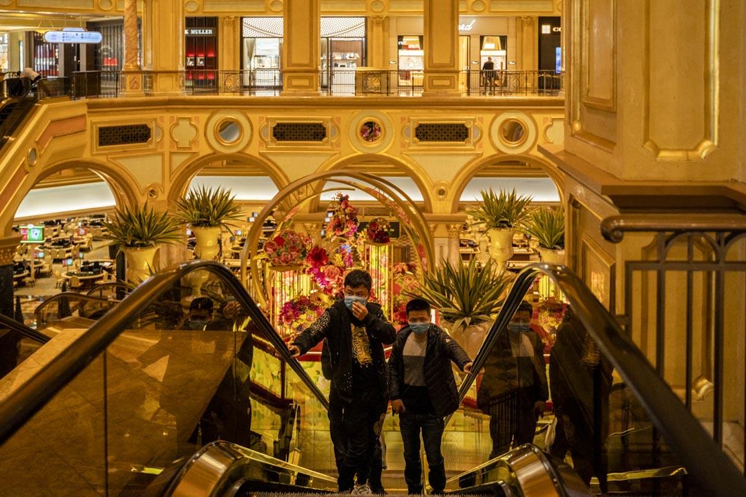 2020年2月23日,澳門威尼斯人酒店的賭場。