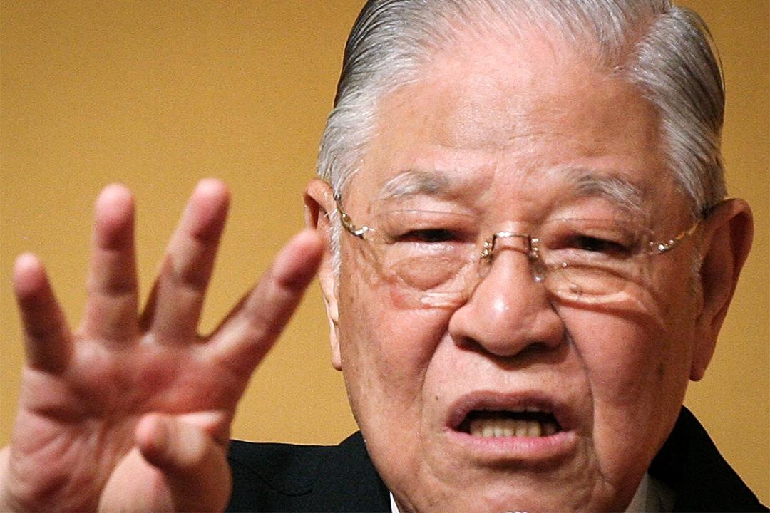 2007年6月7日,台灣前總統李登輝在日本東京大倉飯店發表演講。
