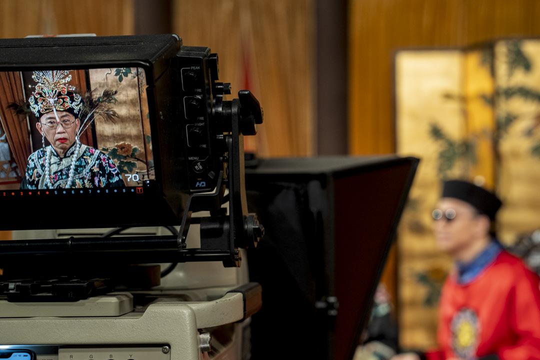 2020年3月13日,香港電台《頭條新聞》錄影廠,吳志森與曾志豪。