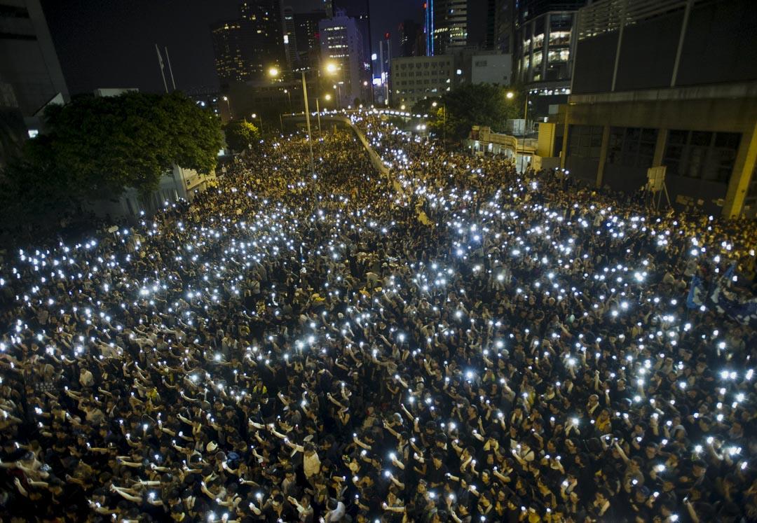 2014年,香港雨傘運動。