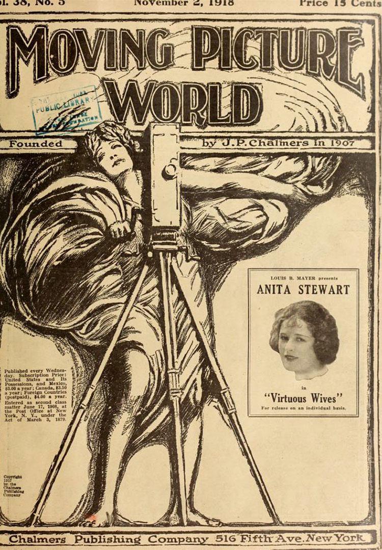 20世紀初的電影產業雜誌《電影世界》(Moving Picture World)。