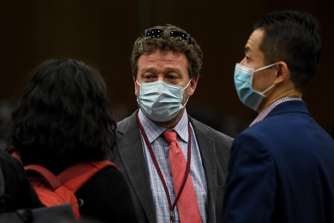 2020年3月18日,紐約時報北京分社社長Steven Lee Myers在北京舉行的每日簡報會上。