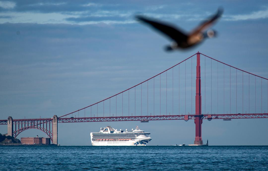 2020年3月9日,大公主號停泊在舊金山接受隔離檢疫。